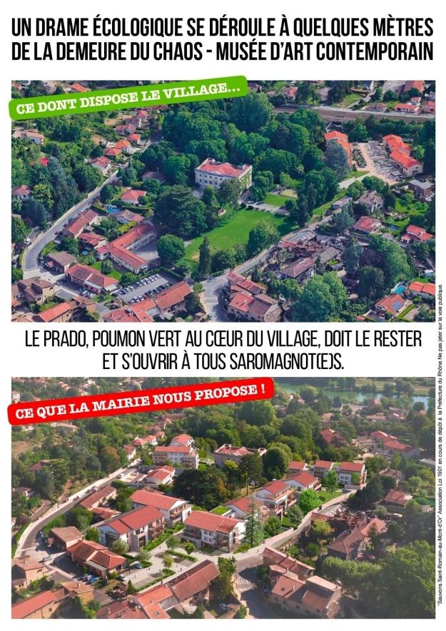Véritable poumon vert, zone humide et boisée au cœur même du village, le Prado devient une véritable zone à défendre (ZAD)
